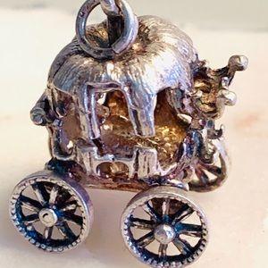 .925 Silver Cinderella Carriage necklace Pendant